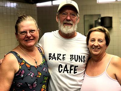 Pat and Fran proprietors of the Bare Buns Cafe
